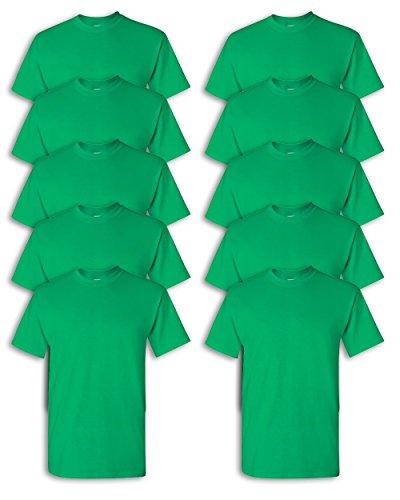 (Gildan mens Heavy Cotton 5.3 oz. T-Shirt(G500)-IRISH GREEN-5XL-10PK)