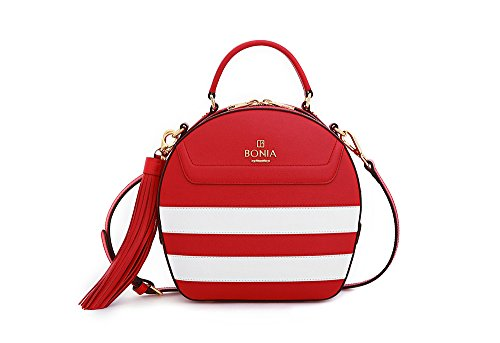 bonia-womens-sophia-leather-sonia-stripes-medium-red