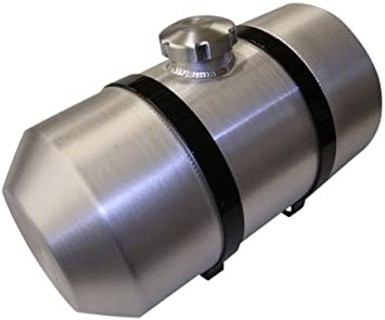 8x15.5 End Fill Round Spun Aluminum Fuel Cell//Gas Tank Tractor Pull 1//4 NPT