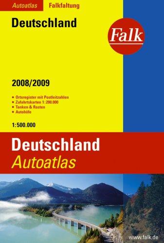 Falk Autoatlas Falkfaltung Deutschland 2008  2009  1 500000 Mit Postleitzahlen  Grote Atlas Duitsland