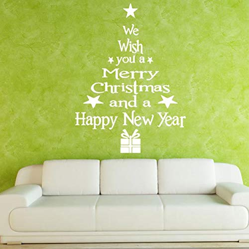 Mysky Christmas Tree Letters Stick Wall Art Decal Mural Home Room Decor Wall Sticker for $<!--$1.94-->