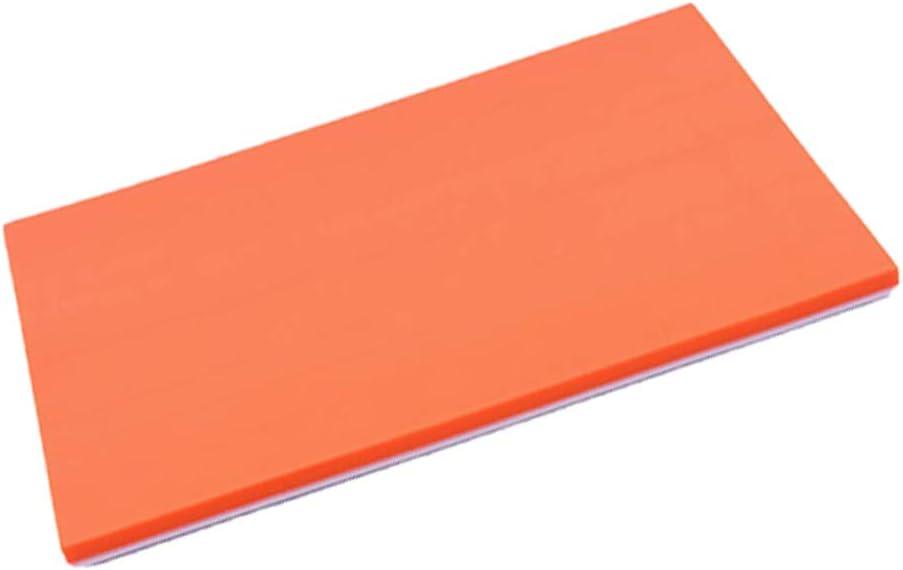 IPOTCH Tallado de Bloques para Sellos Grabado de Caucho Profesional, Bloque de Caucho Muy Útil para Aprender a Hacer Sellos - Naranja Blanco