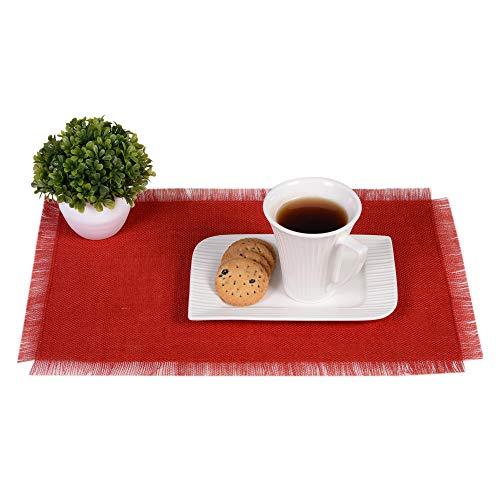 Eloine Linen Burlap Table Placemat-12 x 18