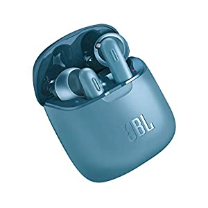 JBL Tune 220TWS by Harman True Wireless in-Ear Headphones with 19 Hours Playtime, Stereo Calls & Bluetooth 5.0 (Blue)