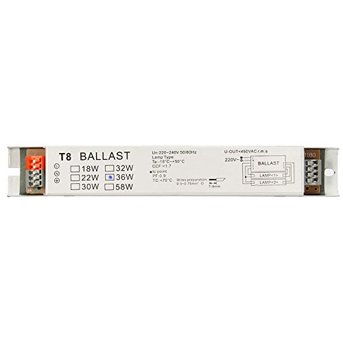 UTL 220-240V AC 36W Wide Voltage T8 Electronic Ballast Fluorescent Lamp Ballasts ()