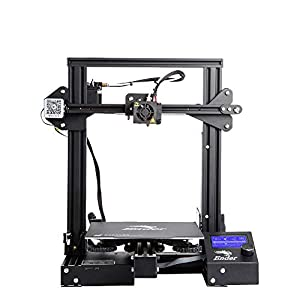 Creality Ender 3 Pro 3D Printer with Upgraded Carbon Crystal Coat glassbed and MeanWell Power Supply and 40mm Y axis Profile DIY 3D Printer for Starter by Shenzhen Creality 3D Co.,Ltd