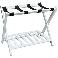 Casual Home 102-21 Shelf- White Luggage Rack