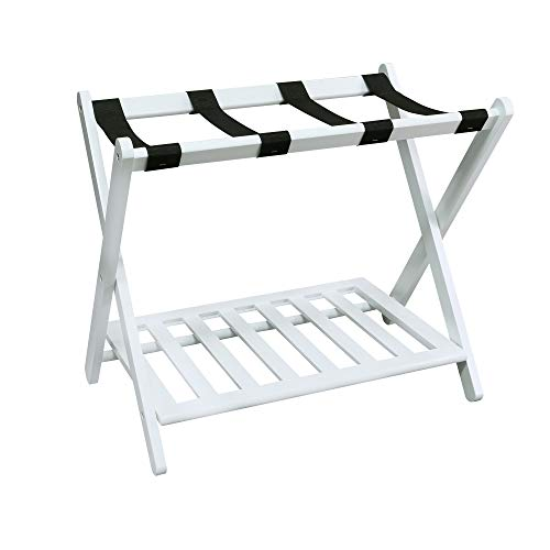Casual Home 102-21 Shelf- White Luggage Rack