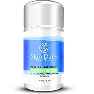 Skin Daily Skincare Solutions Amino and Hyaluronic Acids Active Hydration Facial Moisturizer for all Skin Types