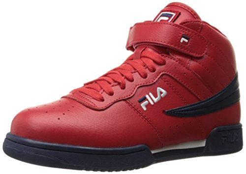 Fila Men's f-13v lea/syn Fashion Sneaker, Red Navy/White, 12 M - Classic Filas