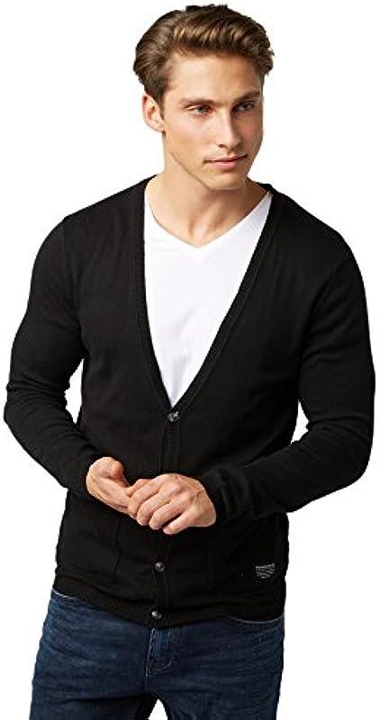 TOM TAILOR Denim Sweter mężczyźni, kolor: czarny, rozmiar: L: Odzież