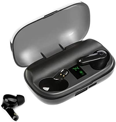 Wireless Earbuds,NormaBuds 100H Long Playtime 2200Mah Battery,Bluetooth 5.0+EDR Water-Resistant,Touch Control,Ture Wireless Bluetooth Earbuds with Mic Earphones,in-Ear Deep Bass Bluetooth Headphones