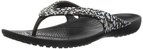 Crocs Women's Kadeeiigrphflp Flip-Flop, Dots/Black, 5 M US