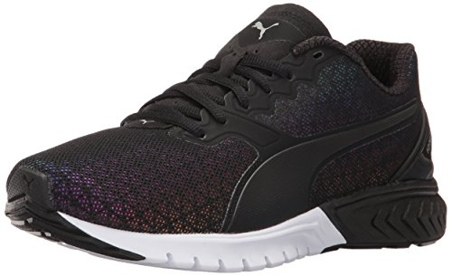 PUMA Women's Ignite Dual Prism Wn's Running Shoe, Puma Black, 10 M US