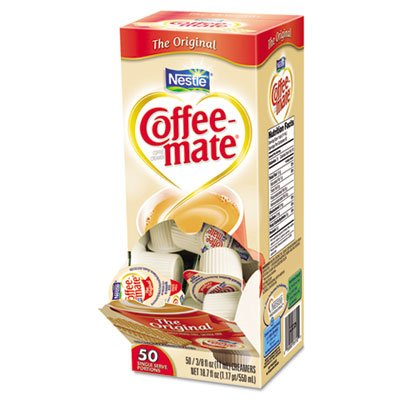 Coffee-mate 84652 Liquid Coffee Creamer, Italian Sweet Creme, 0.375 oz Cups, 50/Box