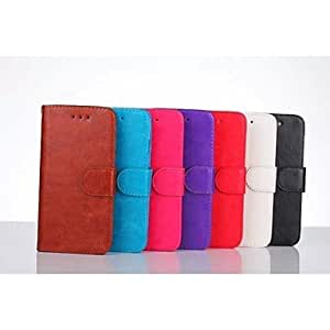 SHOUJIKE PU Solid Color Double Flanged Cases for iPhone 6 (Assorted Colors) , Red