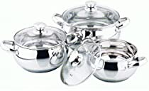 R and B Import P-300 Germany Mega Cook 3 Piece Apple Shape Pot Stainless Steel