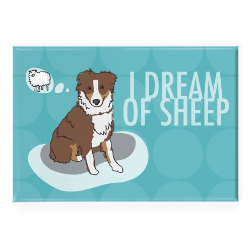 Pop Doggie I Dream of Sheep Red Brown Australian Shepherd...