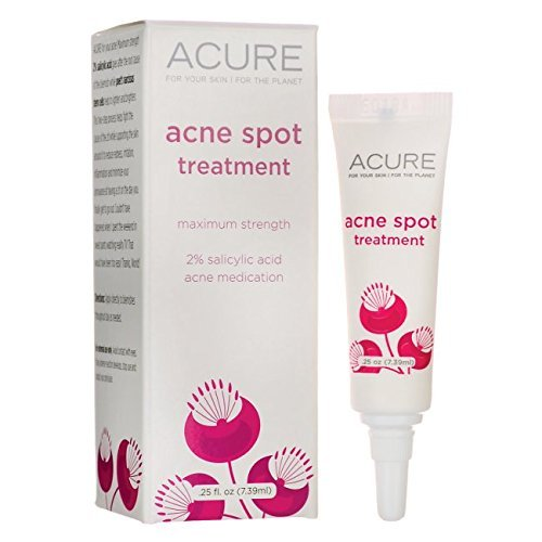 Acure Organics Acne Spot Treatment - Maximum Strength 0.25 fl oz (7.39 ml) Gel by (0.25 Ounce Gel)