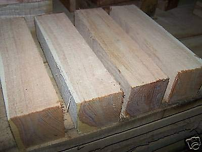 Four (4) Honey Locust Blanks Lathe Wood Turning Blocks 3 X 3 X 12'' by Lotus energy