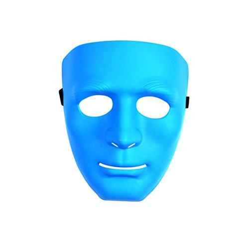 [PYD Hip-hop Street Dance Mask Halloween Masquerade Festival Costume Party Props Blue] (Festival Street Dance Costume)
