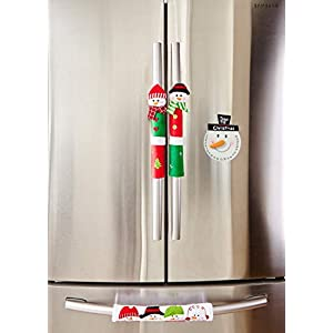 ienjoyware Snowman Kitchen Appliance Refrigerator Handle Door Covers & Snowman Advent Calendar – Christmas Decoration…