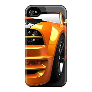 High Quality HjL15219JHLp Orange Mustang Tpu Case For Iphone 4/4s