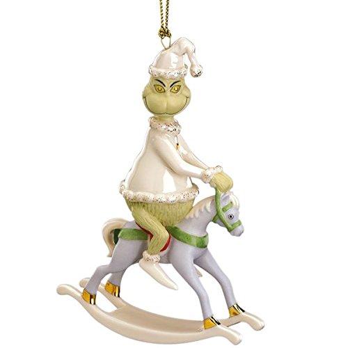 Lenox China Grinch Rides a Rocking Horse ~