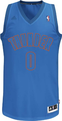 fe5844aca7b NBA Oklahoma City Thunder Winter Court Big Color Swingman Jersey, #0 Russell  Westbrook,