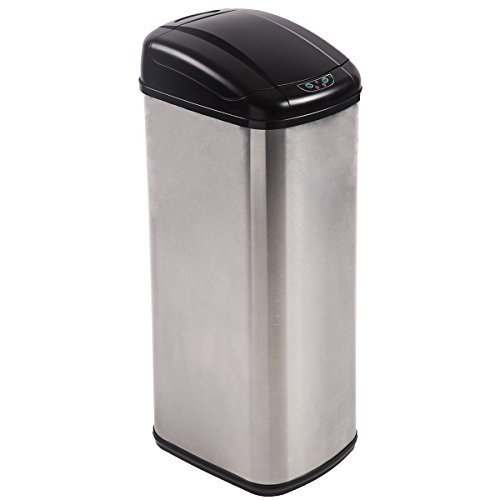 PayLessHere Touchless Automatic Infrared Sensor Trash Can 13 Gallon Stainless Steel