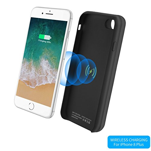 official photos eead5 61140 Amazon.com: iPhone 8 Plus Battery Case -i.Valux 5200mAh Qi Wireless ...