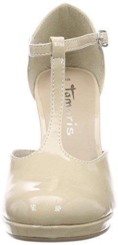 Chaussures salomés Talons Style Patent 24428 Bride 452 Tamaris Femme avec Beige Beige à Cream 0R56q
