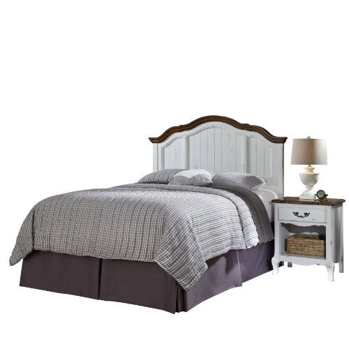 Home Styles 5518-5015 The French Countryside Full/Queen Headboard and Night Stand (Country Style Bedroom Furniture)
