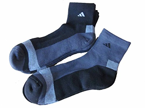 6 Pair Mens Adidas Quarter Crew Cushioned Socks - Alive Extreme Volleyball