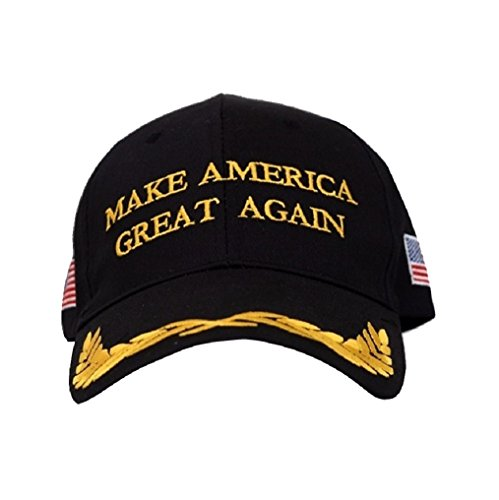 TrendyLuz Make America Great Again Donald Trump MAGA Baseball Cap Hat (Black Flag Olive Branch)
