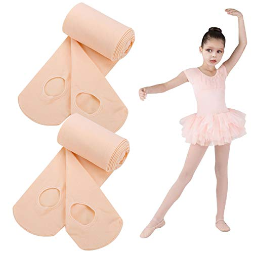 Dance Tights for Ballet Girl,Pro-Grade Grace Ultra Soft Convertible Transition Pink Ballet Tight,Microfiber Sheer Tight Stocking Pantyhose Legging Stocking Pants for Toddler Children Ballerina ()