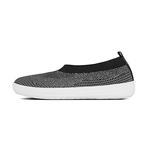 FitFlop Women's, Uberknit? Slip On Shoes Black/Charcoal 8 M