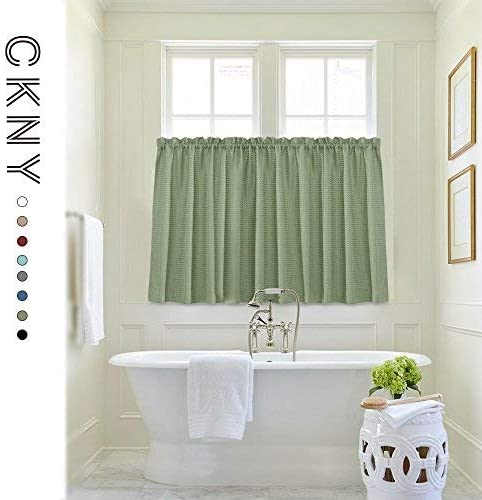 Waffle Weave Textured Curtains Water Proof Bathroom product image