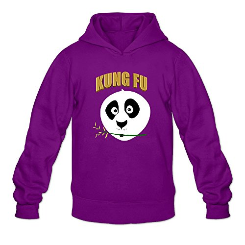 Kung Fu Panda 3 Logo Men's Long Sleeve Hoodies Purple US Size M]()