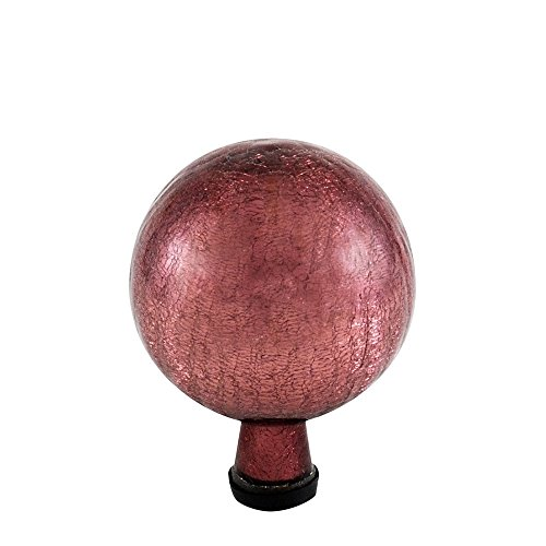 Achla Crackle Glass - Achla Designs 6-Inch Crackle Gazing Globe Ball, Plum