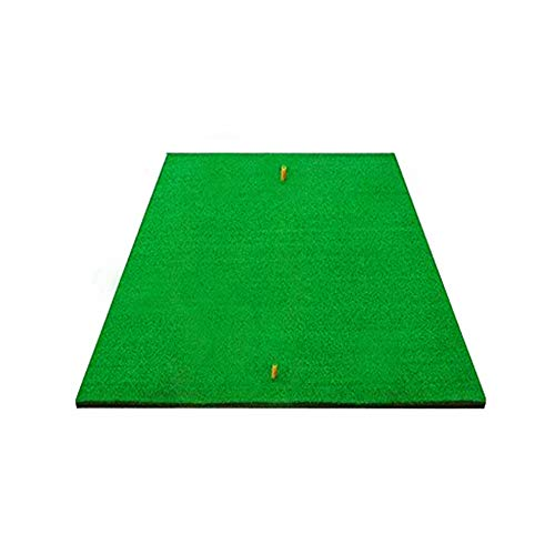 Synturfmats Golf Practice Hitting Mat Indoor Outdoor Turf Grass Golf Mats with a Free Rubber Tee – Realistic Rough Portable Golf Driving Chipping Swing Training Aids Equipment