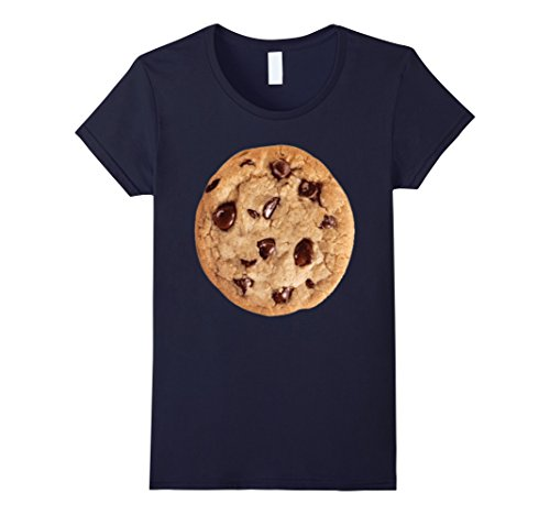 [Women's Cookie last minute Halloween funny matching costume tshirt Large Navy] (Last Minute Awesome Halloween Costumes)