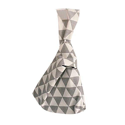 HCFKJ Stylish Japanese Wrist Bag Simple Carry-on Bag Printing Handbag Bags Canvas Small C