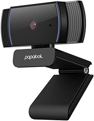 Webcam 1080P Full HD, PAPALOOK AF925 Computer Camera with Microphone, Autofocus Web Cams for Desktop/Laptop/Mac, Works with Skype, Zoom, WebEx, Hangouts