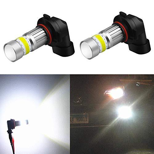 Alla Lighting 2800lm Xtreme Super Bright H10 9145 LED Bulbs Fog Light High Illumination COB-72 LED 9145 Bulb 9140 9045 9145 H10 Fog Lights Lamp Replacement - 6000K Xenon White ()