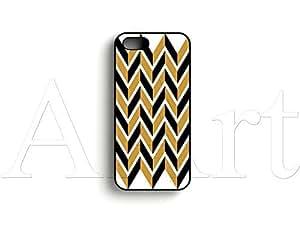Zigzag stripes pattern Apple iPhone 5 case / zigzag stripes iPhone 5 5S Case - 4G AArt #TM07