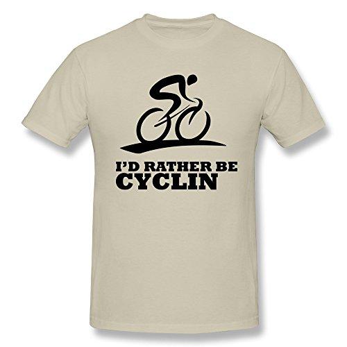 (KEMING Men's Love Bicycle T-shirt S)