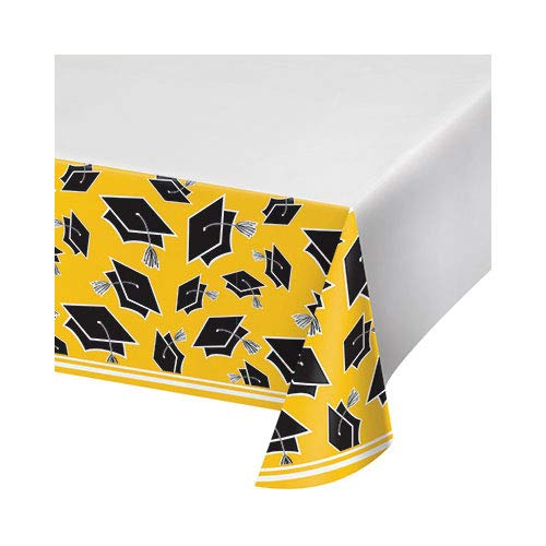 Hoffmaster Group 320102 5 x 102 in. School Spirit Yellow Tablecover, Pack of 12
