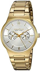 Bulova Men's Quartz Stainless Steel Casual Watch, Color:Gold-Toned (Model: 44A109)