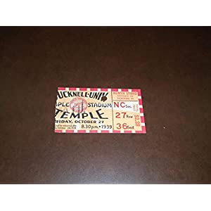 1939 BUCKNELL AT TEMPLE COLLEGE FOOTBALL TICKET STUB EX MINT